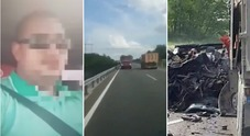 Autista sorpassa in diretta facebook al volante e si schianta con un tir: strage in strada, 9 morti Video choc