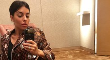 Georgina Rodriguez, che lusso: pigiama di Vuitton da 2700 euro per la fidanzata di CR7