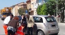 Auto contro una moto: centauro 45enne finisce all'ospedale