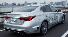 Guida autonoma: Nissan manda avanti una Infiniti Q50. Test sulle strade di Tokyo con il Pro-Pilot evoluto