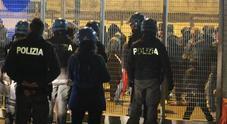 Controlli della Polizia allo stadio Menti