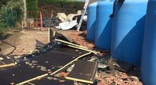 Pannelli solari distrutti da vetro e grandine a Lusia