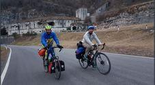 Omar Turrin e Christian Scariot, i due feltrini pronti ad avventurarsi verso la Mongolia in bicicletta