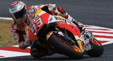 GP Catalogna, nelle libere Marquez vola dietro c'è la Ducati di Lorenzo. 10° Valentino, Viñales è 17°