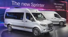 Mercedes Sprinter, nuova generazione anche a trazione anteriore e connettività evoluta. Nel 2019 l'elettrico