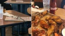 Topo cade sul tavolo di una ragazza al ristorante Buffalo, la foto fa il giro dei social