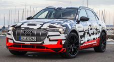 Audi svela il prototipo del Suv e-tron a emissioni zero. Stadler: «A fine anno sarà un'auto di serie»