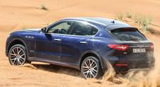 Levante regina del deserto, per il Suv Maserati impegnativo test off road sulle sabbie del Dubai
