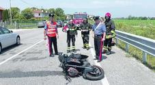 Schianto in moto contro la Porsche: grave un 38enne di Pasiano