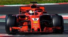 Ferrari missile a Barcellona. Vettel frantuma il record della pista ottenuto ieri da Ricciardo