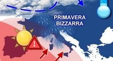 L'inverno torna all'attacco grandine, freddo, temporali e al Centro anche la neve