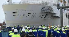 Costa Smeralda tocca per la prima volta il mare. Varo tecnico per la nave green di Costa Crociere