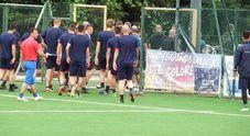 Blitz degli ultras della Samb al campo di allenamento per parlare con mister Morriero e squadra