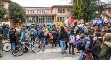 la protesta all'istituto comprensivo Albinoni di Selvazzano