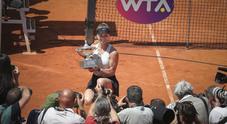 La premiazione di Elina Sviolina sul Centrale (Foto Paolo Rizzo/Ag.Toiati)