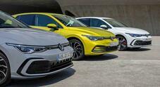 Golf 8 eTSi, eHybrid, GTE: la best seller è sempre più elettrificata. 5 versioni MHEV e PHEV