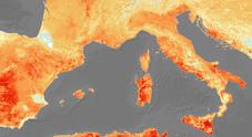 L'Italia nella morsa del caldo fotografata dai satelliti