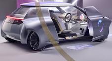 Mini guarda avanti, frontale trasparente e porte scorrevoli: ecco la Vision Next 100