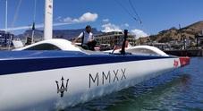 John Elkann con Soldini a bordo di Maserati Multi 70 per vincere la Cape2Rio 2020