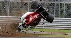 Gp Monza, pauroso incidente per l'Alfa di Ericsson nelle libere. Pilota illeso e prove sospese