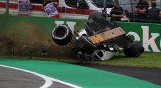 Gp Monza, il pauroso incidente di Ericsson