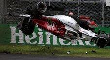 F1, il pauroso incidente di Ericsson a Monza