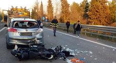 Monsampolo, schianto in superstrada Muore un motociclista di 42 anni