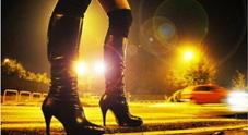Una prostituta in strada
