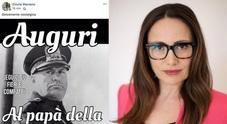 """""""Mussolini papà della patria"""", il post dell'ex consigliera"""