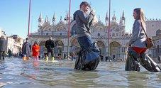 Stasera punta di acqua alta a 125 cm: allagato il 37% del centro storico