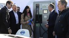 Enel, Nissan e TotalErg inaugurano colonnina di ricarica elettrica sul Raccordo Anulare (GRA) di Roma
