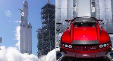 Musk lancierà in orbita una Tesla Roadster. SpaceX farà partire il 6 febbraio il razzo Falcon Heavy