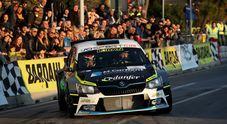 Spettacolare avvio del Campionato italiano Rally, al Ciocco vince Basso su Skoda Fabia R5