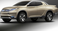 Tre diamanti Mitsubishi: il pick up del futuro sarà ibrido-diesel
