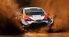 WRC, la Toyota di Tanak in testa al Rally del Cile. Ogier e Latvala alle sue spalle