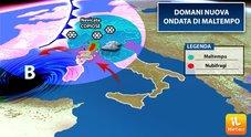 Nuova ondata di maltempo: piogge nel weekend anche nelle Marche