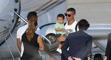 Ronaldo, arrivo da star a Torino (Ansa)