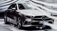 Mercedes Classe A regina di aerodinamica. Ha un cx di solo 0,22