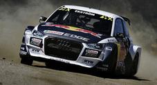 WRX, Ekström (Audi S1) cala il tris ad Hockenheim. Kristoffersson (Polo Gti) e Hansen (Peugeot 208) sul podio