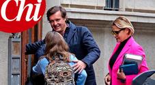 Simona Ventura e Gerò di nuovo insieme con la figlia Caterina: «E' un lieto fine»