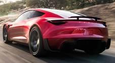 """La nuova sfida di Elon Musk: Testa roadster, 0-100 in 1,9"""", 400 km/h, 1.000 km di autonomia"""