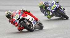 Dovizioso trionfa a Sepang, Valentino 2°. Cadono Iannone e Marquez