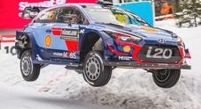 Rally di Svezia, un dominio Hyundai: Neuville in testa al via dell'ultima tappa