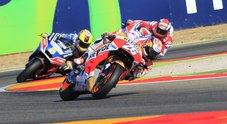 Gp Aragon, pole per Marquez, poi Vinales e Lorenzo: Valentino Rossi solo sesto