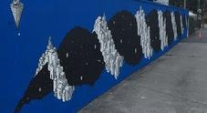 In strada della Cattane, a vicenza, è stato realizzato un maxi murale