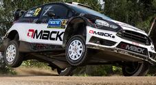 Rally di Spagna, Tanak (Fiesta RS) al comando dopo la prova cittadina. Bertelli secondo