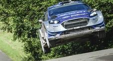 Rally di Germania, in testa Tanak con la Ford, precede Mikkelsen e Ogier
