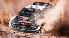 Ogier (Ford) sempre in testa nel Rally Italia Sardegna. Neuville e due Toyota ad inseguire: Latvala e Lappi