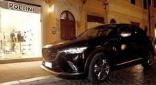 Mazda CX-3 Limited Edition debutta a Roma per apertura store Pollini in via del Babuino