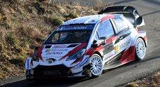 Rally Montecarlo, la Toyota di Tanak subito in testa. Ogier (Citroen) e Neuville (Hyundai) ad inseguire
